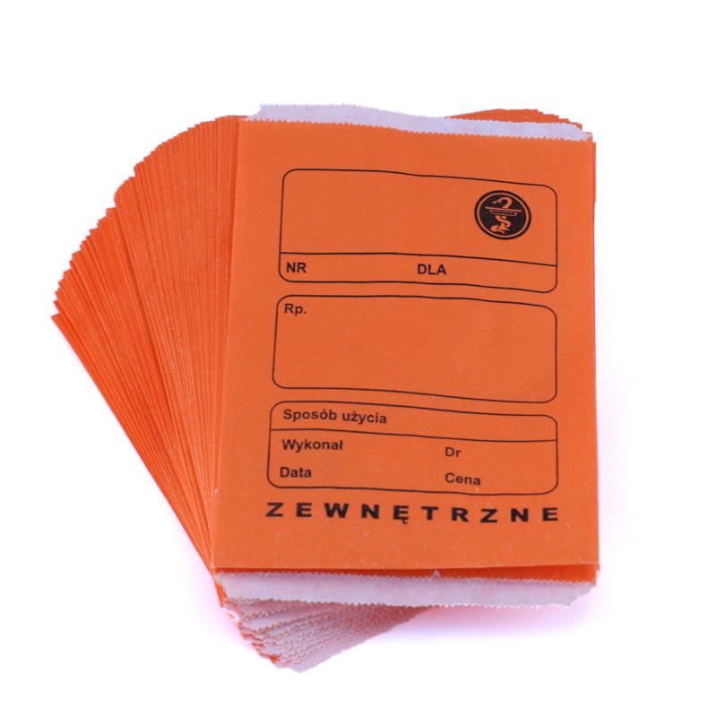 Torebki recepturowe pomarańczowe 120x170mm
