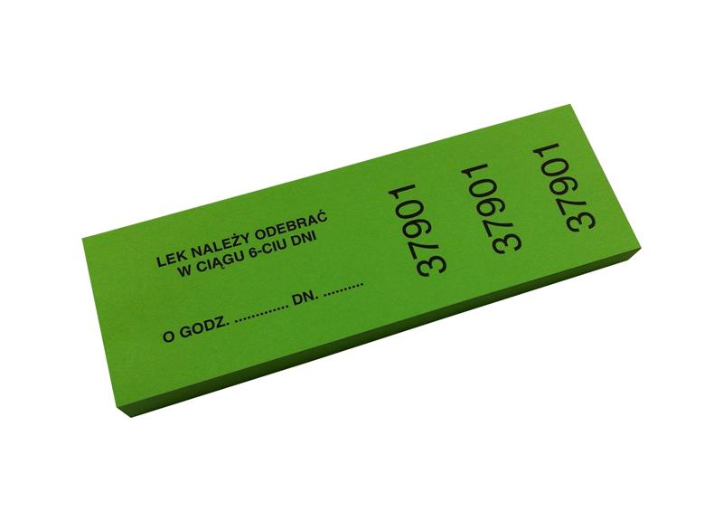 Numerki recepturowe zielone